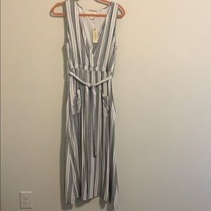 NWT Francesca's blue and white striped dress